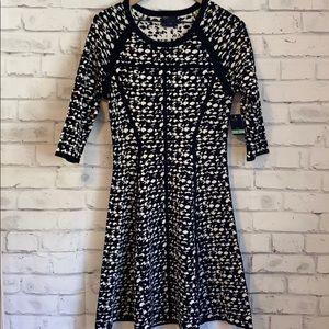 NWT Just Taylor black & white print dress